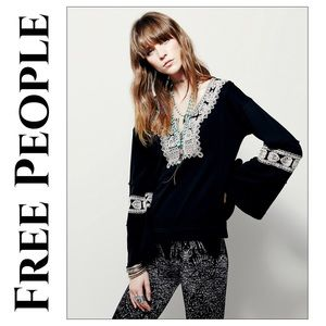 Free People Santa Maria Peasant Top Pullover